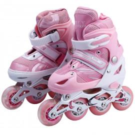 Skating Shoes Roller Shoes with LED light wheels Size Adjustable roller skate shoes NOVICZ