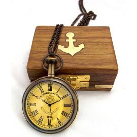 Artshai Antique Look Pocket watch with Sheesham wood box -Artshai355