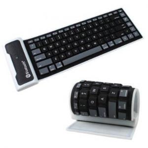 85-key Bluetooth 3.0 Silicone Roll-up Keyboard