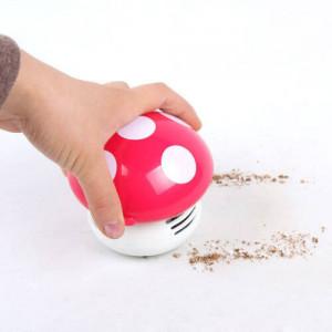 New Functional Desktop Vacuum Cleaner Cartoon Mushroom Mini Dust Collector Household Computer Keyboard Clean Brushes